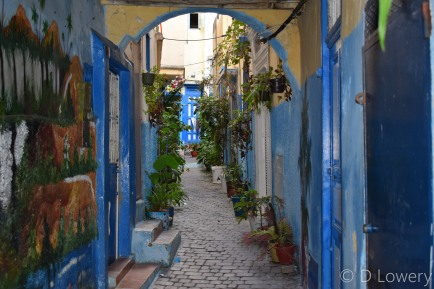 Colourful alleyway